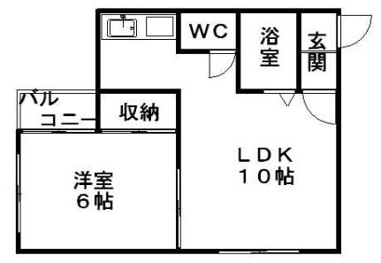 スタジオ108裏参道[201号室]の間取り