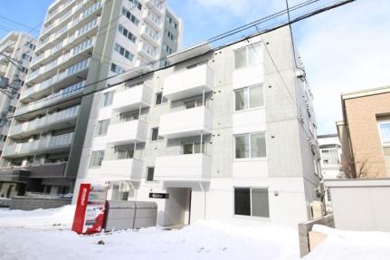 北海道札幌市豊平区平岸四条2丁目の賃貸マンションの外観