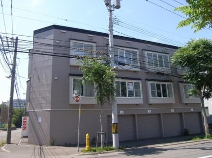 北海道札幌市厚別区青葉町6丁目の賃貸アパートの外観
