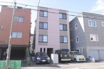 北海道札幌市豊平区月寒東一条5丁目の賃貸マンションの外観