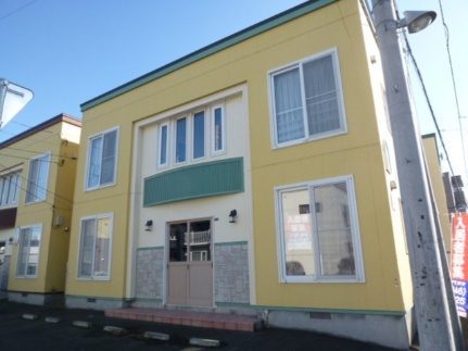 北海道札幌市豊平区月寒東二条3丁目の賃貸アパートの外観