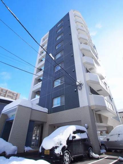 北海道札幌市豊平区平岸四条3丁目の賃貸マンションの外観