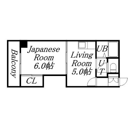 ハイツノース円山[2階]の間取り