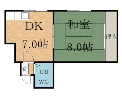 北海道札幌市中央区南十条西7丁目の賃貸アパートの間取り