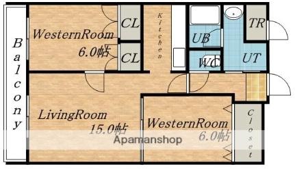 アクアガーデン[2階]の間取り