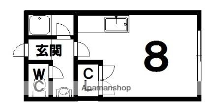 YUTAKA HOUSE[2階]の間取り