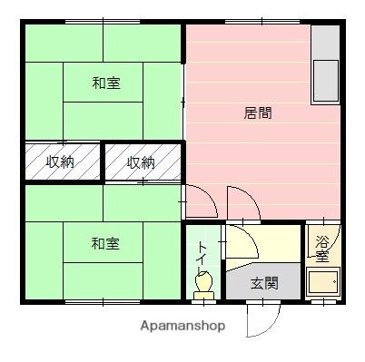 三木マンション[2号室]の間取り