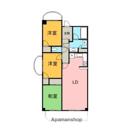 讃東閣[4階]の間取り