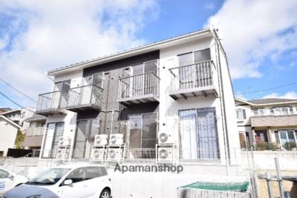 宮城県仙台市青葉区荒巻中央の賃貸アパートの外観