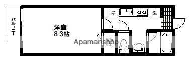 宮城県仙台市青葉区荒巻中央の賃貸アパートの間取り