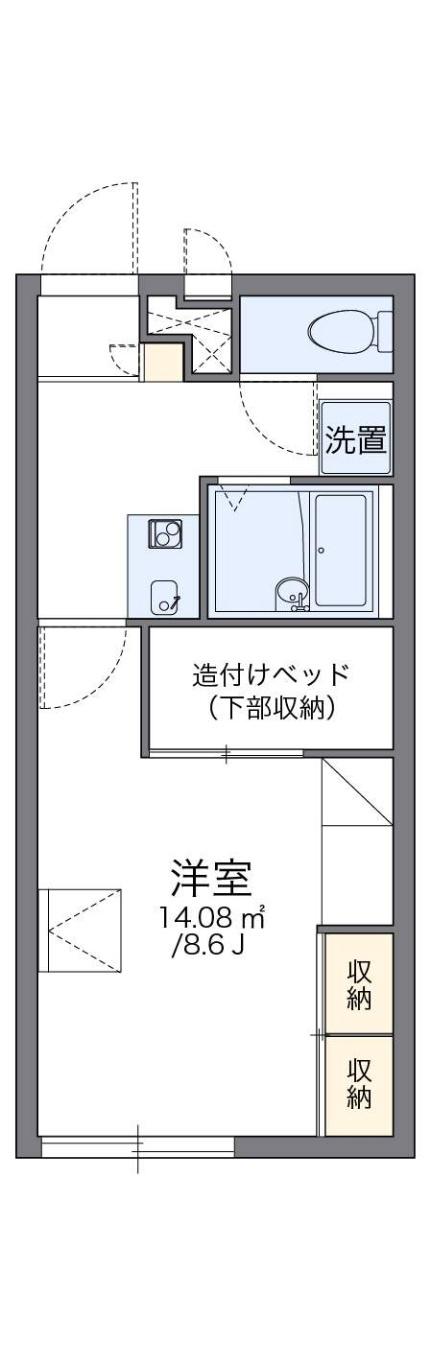 レオパレスヴィクトワール[2階]の間取り