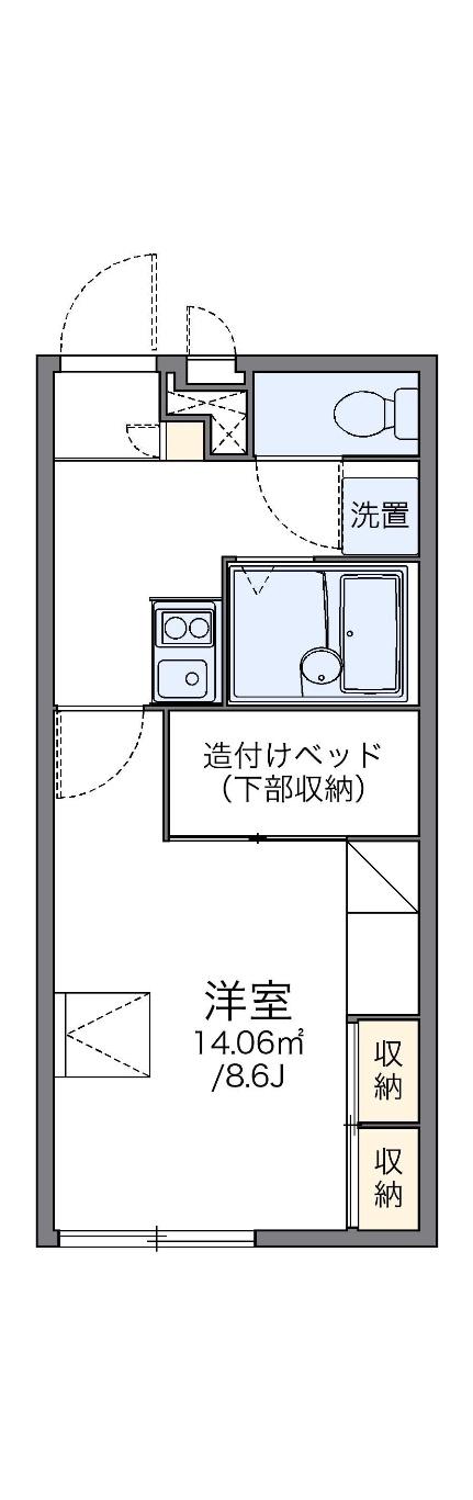 レオパレスアブニール 折立 2階の間取り