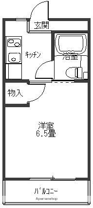 ハイツ木村Ⅱ[201号室]の間取り