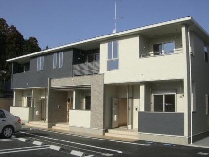 茨城県ひたちなか市大字稲田の賃貸アパートの外観