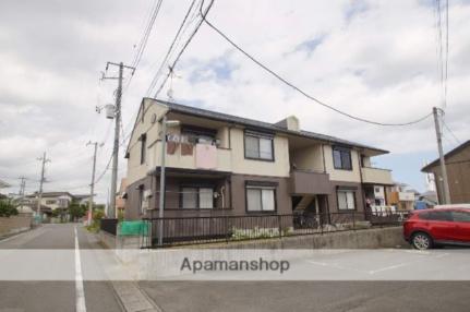 茨城県ひたちなか市大字市毛の賃貸アパートの外観