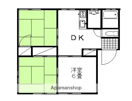 栃木県足利市若草町の賃貸アパートの間取り