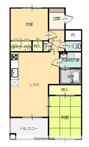 SIMマンション[105号室]の間取り