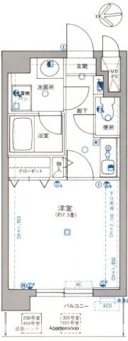 ライオンズマンション太田[404号室]の間取り