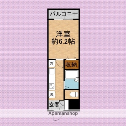 ドミール上福岡[4階]の間取り