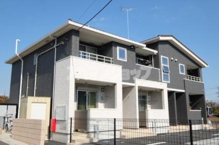 埼玉県東松山市大字西本宿の賃貸アパートの外観