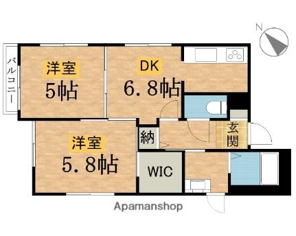 東京都八王子市元八王子町2丁目の賃貸アパートの間取り