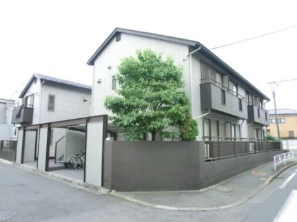 東京都調布市入間町1の賃貸アパートの外観