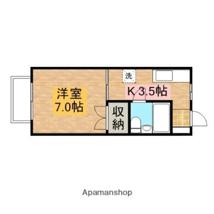 モンシャトウ横山[103号室]の間取り