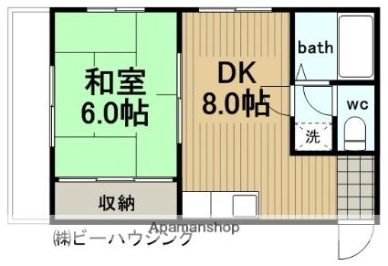 濱ビル12[302号室]の間取り