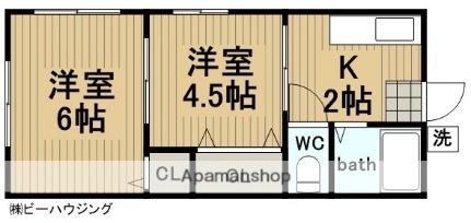 岩沢荘[203号室]の間取り