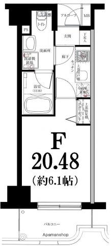 グリフィン横浜・東白楽弐番館[306号室]の間取り