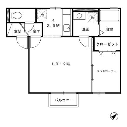 クレジュール[2階]の間取り