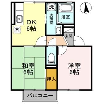ロビュスト三栄[1階]の間取り
