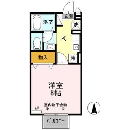 長野県松本市大字島立の賃貸アパートの間取り