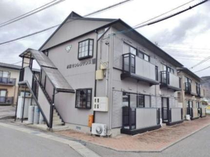 長野県松本市大字水汲の賃貸アパートの外観