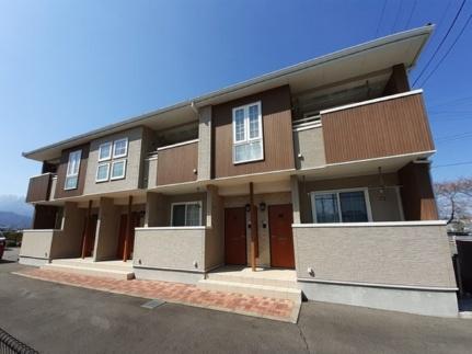 長野県安曇野市豊科の賃貸アパートの外観