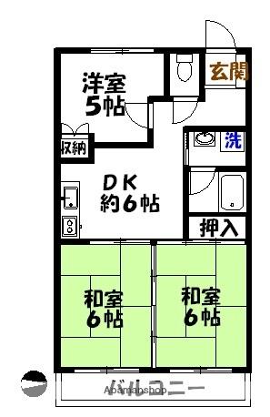 柳郷地ハイツ[302号室]の間取り