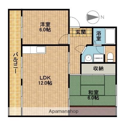 静岡県浜松市南区参野町の賃貸マンションの間取り