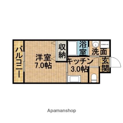 静岡県掛川市細谷の賃貸アパートの間取り