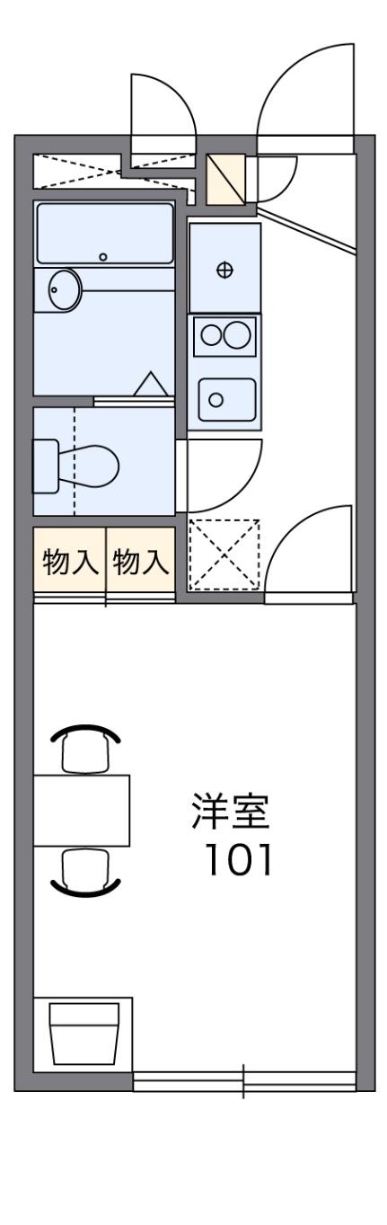 レオパレス京田[2階]の間取り