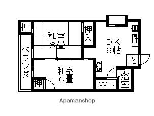 コーポ霞ヶ丘[402号室]の間取り