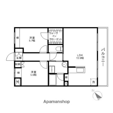 滋賀県彦根市野口町の賃貸マンションの間取り