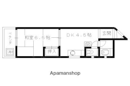 アサヒマンション[407号室]の間取り