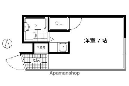 B−LOCK神楽岡[1-D号室]の間取り