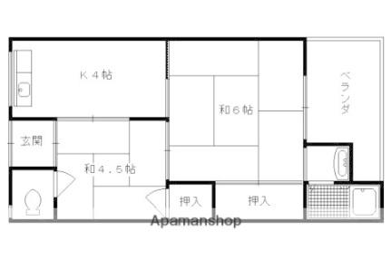 罧原荘[C-12号室]の間取り