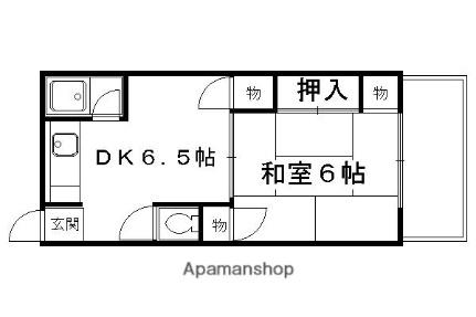 松亀荘[202号室]の間取り