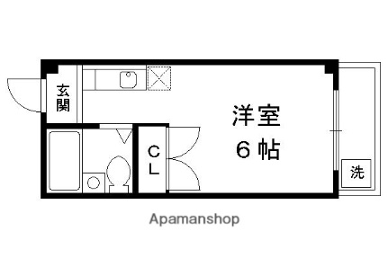 船岡山ハイツ[405号室]の間取り