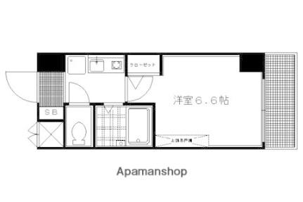 【分譲】ラナップスクエア京都北野[503号室]の間取り