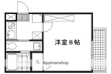 アークリード京都黒門[103号室]の間取り