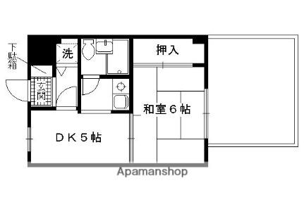 藤和ライブタウン伏見桃山[4階]の間取り