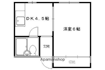 【分譲】グランディール朱雀[503号室]の間取り